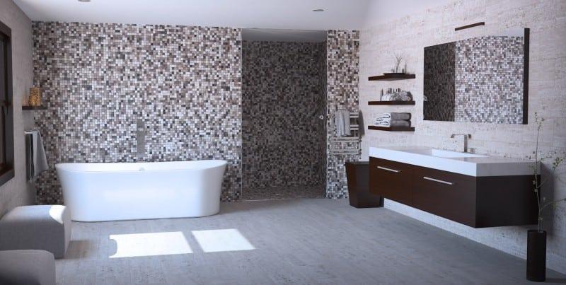 Infografía 3d para diseño de un Baño