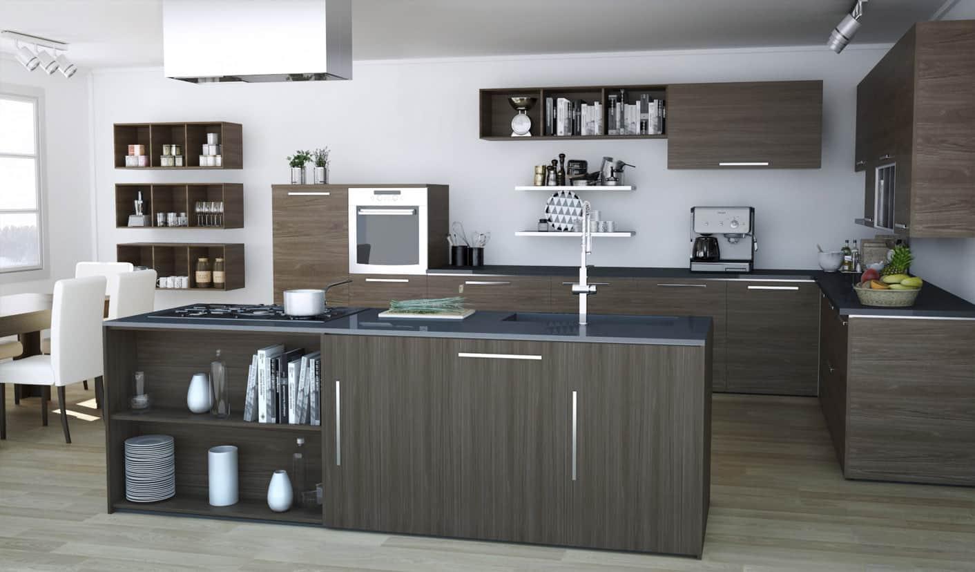 Infografía 3d Cocina de Diseño