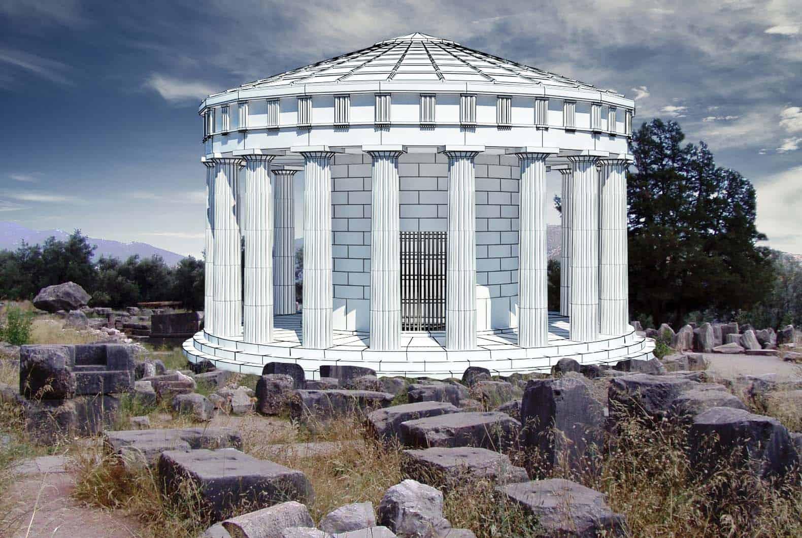 Maqueta del Templo de Delfos, Grecia