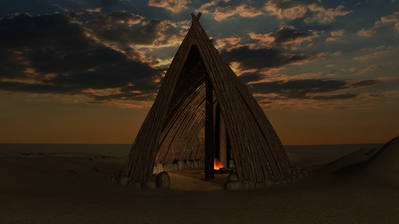 Yacimiento Prehistórico de Terra Amata, en 3d