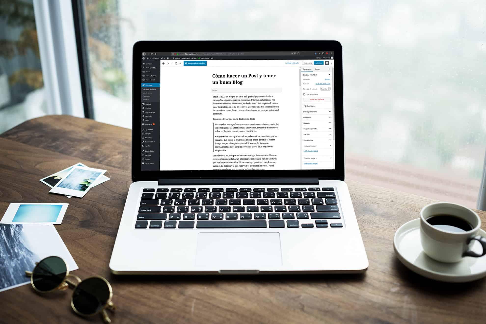 Te actualizamos el Blog al nuevo editor Gutenberg - 3dV