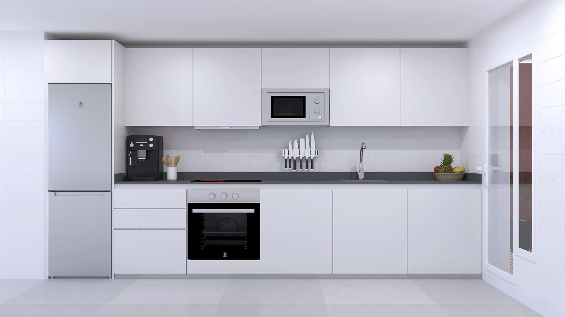 Infografía 3d Cocina