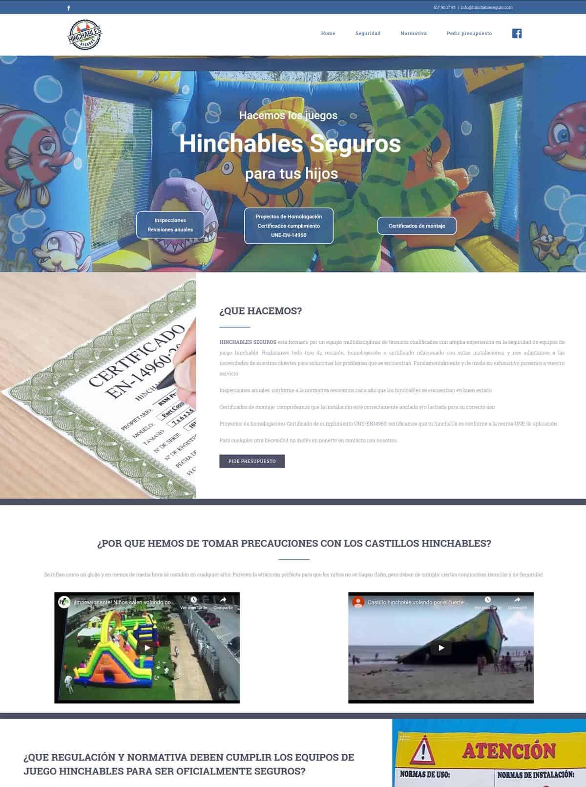 Hinchables Seguros: Inspecciones-Revisiones-Certificación